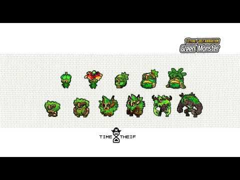Pixel art evolution monster pack1