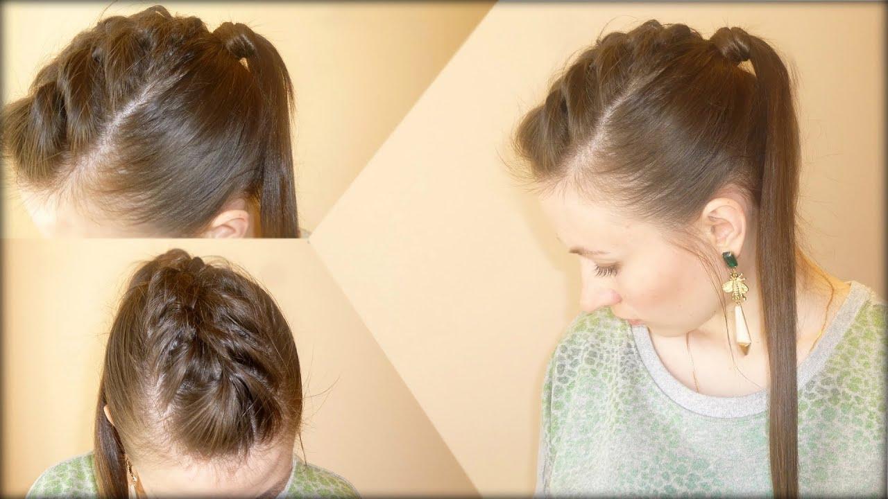 ирокез на длинные волосы как сделать