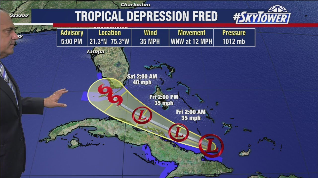 Tropical depression Fred is approaching Florida with another storm ...