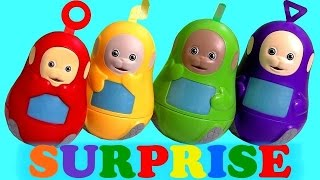 Teletubbies Stacking Cups Bubble Guppies Surprise Play-Doh Kinder Shopkins Huevos Sorpresa