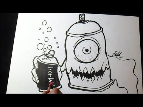 Comment dessiner Aérosol Graffiti - YouTube