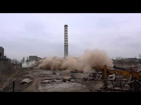 Wyburzenia w cementowni