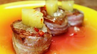 Стейки из Свинины в Беконе с ананасами =)