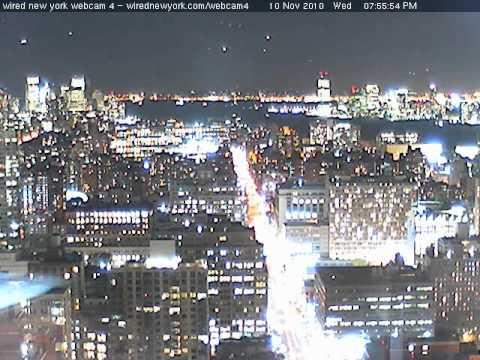 UFO's on New York WebCam 11-10-10