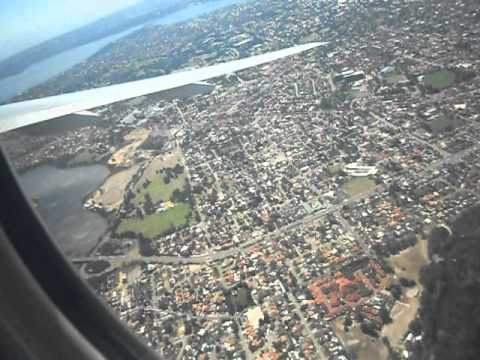 Take Off from Perth Airport Australia - Passenger View - HUGE BANKING!!