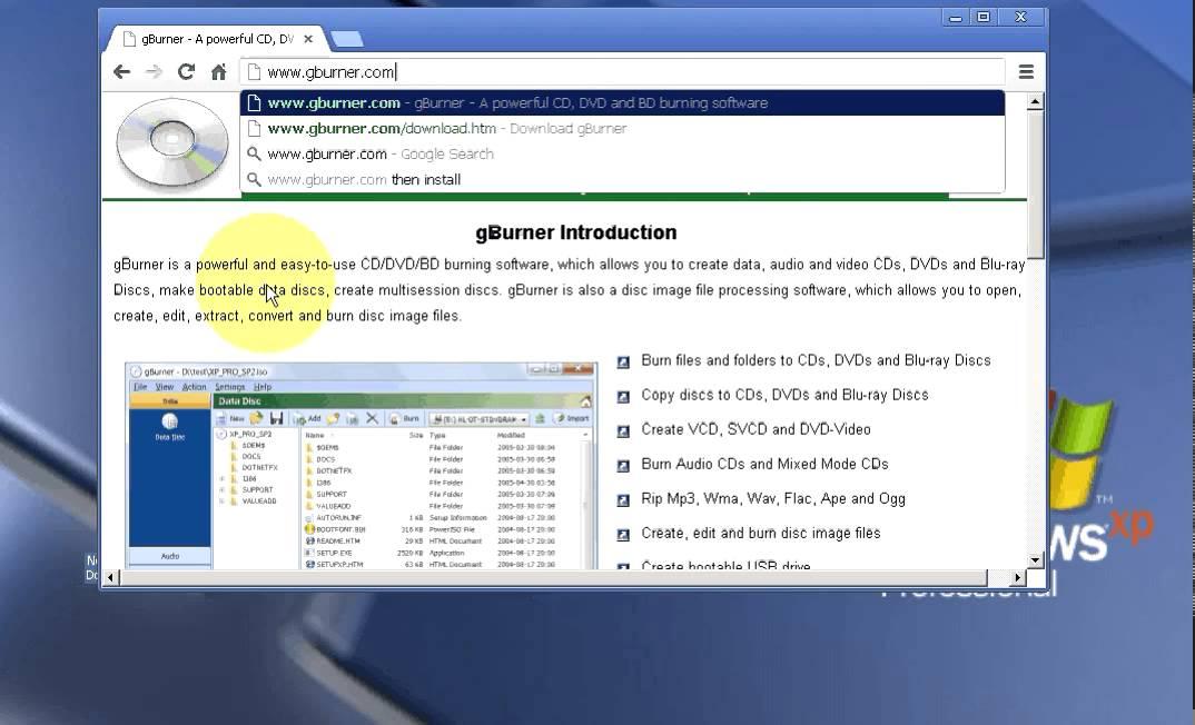 Free download gburner bestofile.