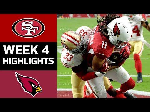 49ers vs. Cardinals   NFL Week 4 Game Highlights