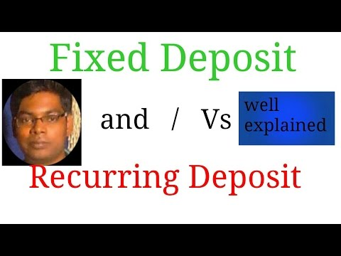 FIxed Deposit Vs Recurring Deposit (Hindi)