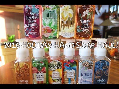 Bath Body Works New 2016 Holiday Hand Soap Haul Youtube