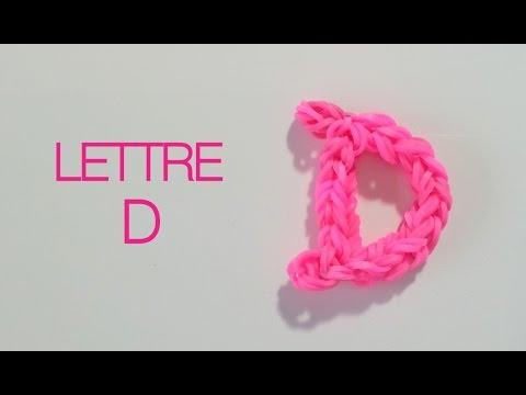 Comment faire la lettre D avec des élastiques sans machine