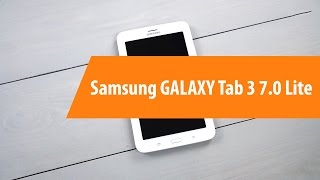 Распаковка Samsung GALAXY Tab 3 7.0 Lite / Unboxing Samsung GALAXY Tab 3 7.0 Lite