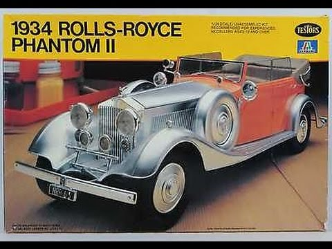 Italeri 1934 Rolls Royce Phantom Ii Plastic Model Car Kit 1 24 Scale