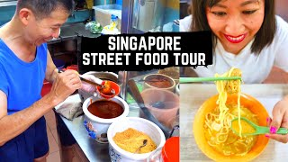 SINGAPORE STREET FOOD tour | Best street food in Singapore | UNIQUE SINGAPOREAN street food