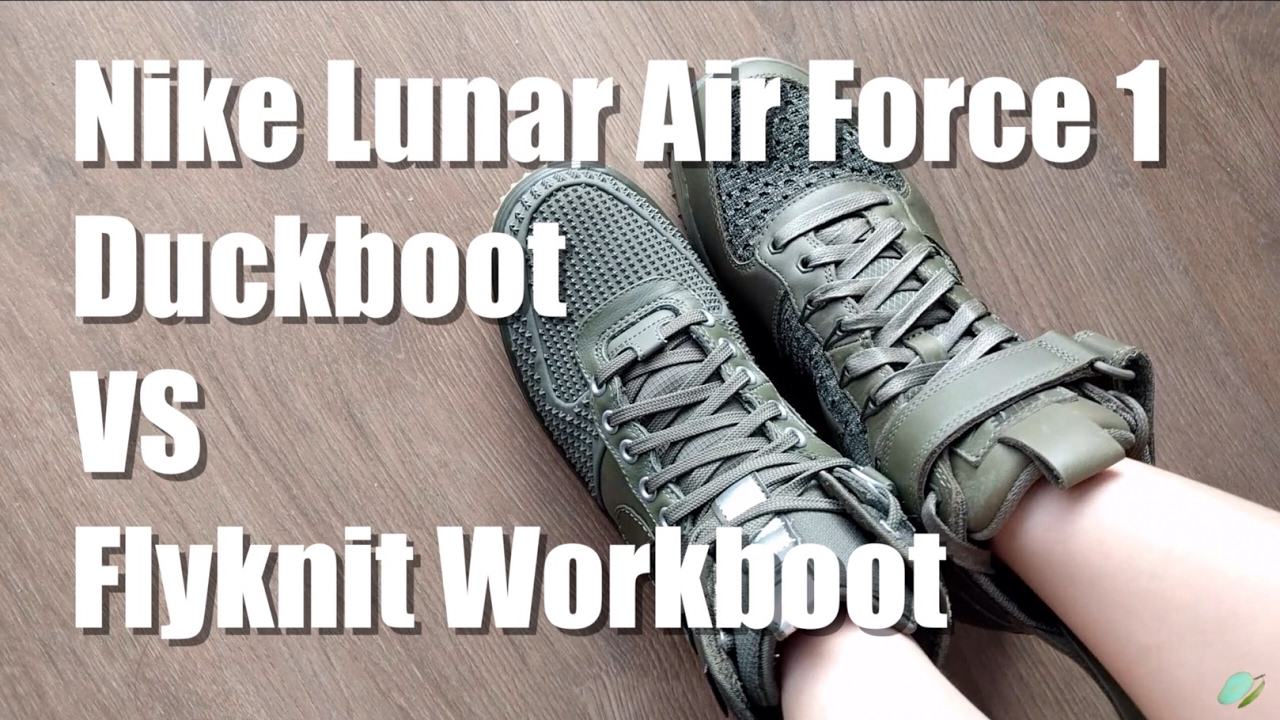 best website beed6 f75bc Review Nike Lunar Air Force 1 Duckboot VS Flyknit Workboot by MangoYellow