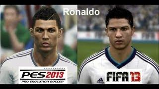 PES 2013 vs FIFA 13 FACE Comparison REAL MADRID