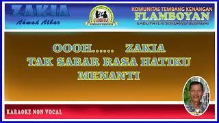 Karaoke Non Vocal - ZAKIA - Ahmad ALbar