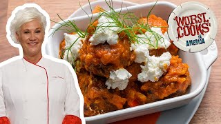Anne Burrell's Lamb Meatballs | Worst Cooks in America | Food Network