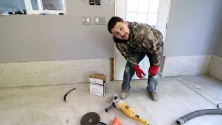 DIY concrete grinding for my garage!!!