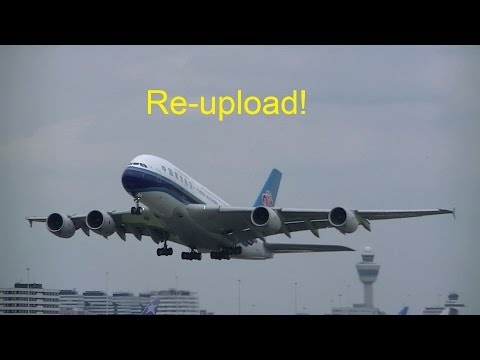 AIRPLANE SPOTTING AMSTERDAM SCHIPHOL 28-6-2015  - USING A BIKE (REUPLOAD)