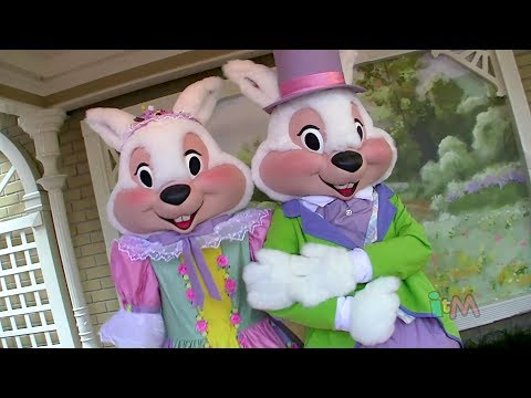 Easter Bunny meet and greet at Walt Disney World