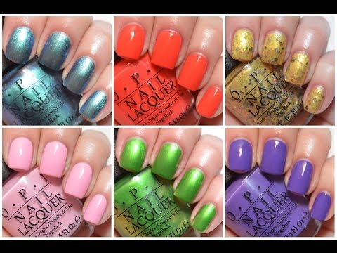 opi hawaii swatch and review spring summer 2015 youtube