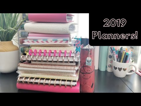 My 2019 Planner Line Up!!!
