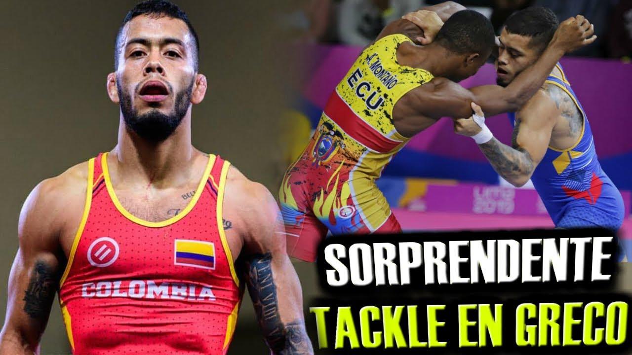 SORPRENDENTE TACKLE en LUCHA GRECO ROMANA - Tecnicas de lucha olimpica