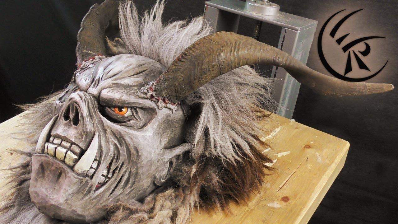 Finishing A Krampus Mask Timelapse