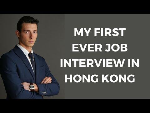 My first ever job interview in Hong Kong!