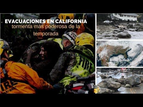 """Ordenan evacuaciones en California ante la """"tormenta más poderosa de la temporada"""
