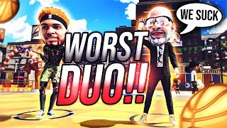 GMAN AND STEEZO ARE THE WORST DUO ON NBA 2K20! TEACHING GMAN HOW TO DRIBBLE! BIGHEAD MYPARK TAKEOVER