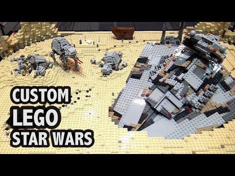 LEGO Jakku With Motorized Ships (Star Wars)
