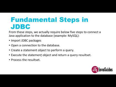 JDBC Tutorial - Part 1: Steps to Connect Database with Java