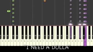 ♫ Aloe Blacc - I Need A Dollar Piano Tutorial ♫