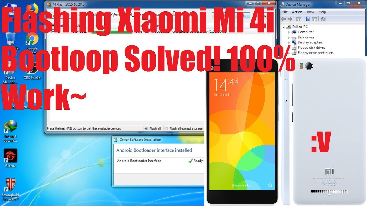 Tutorial Flash Xiaomi Mi 4i via Fastboot 100% Work!