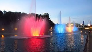 достопримечательность города Хабаровск-поющие фонтаны