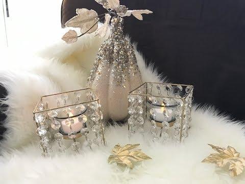 Dollar Tree Diy/ Revamp Glam Tealight Candle Holders