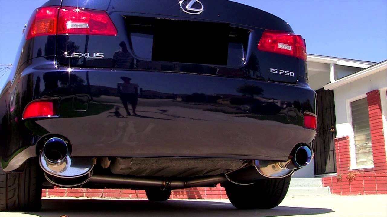 lexus is250 w greddy se exhaust