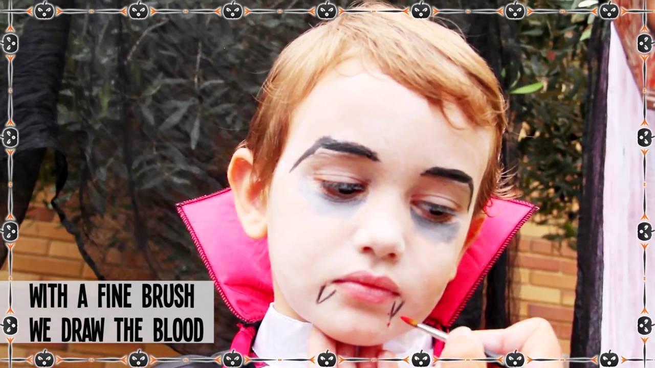 DIY Halloween vampire makeup for kids - YouTube