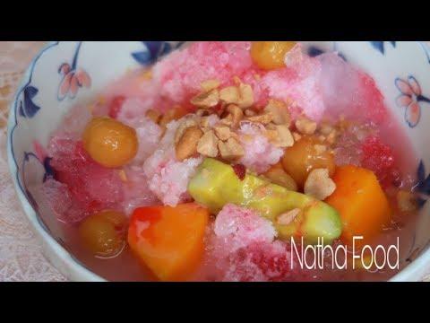 Tự làm si rô đỏ, cocktail, trái cây tô giải nhiệt mùa hè || Natha Food