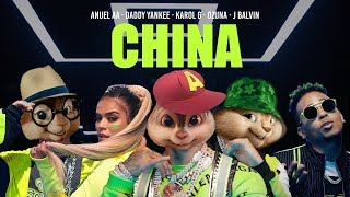 Baixar China - Anuel AA, Daddy Yankee, Karol G, Ozuna & J Balvin | Alvin and the Chipmunks
