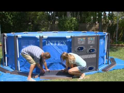 Piscina intex graphite panel youtube for Piscine intex graphite