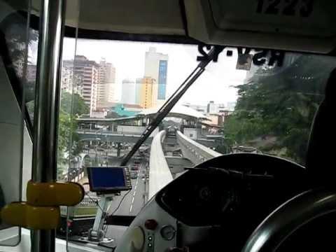 Malaysia/KL: Leaving Titiwangsa on board the Kuala Lumpur Monorail towards Chow Kit