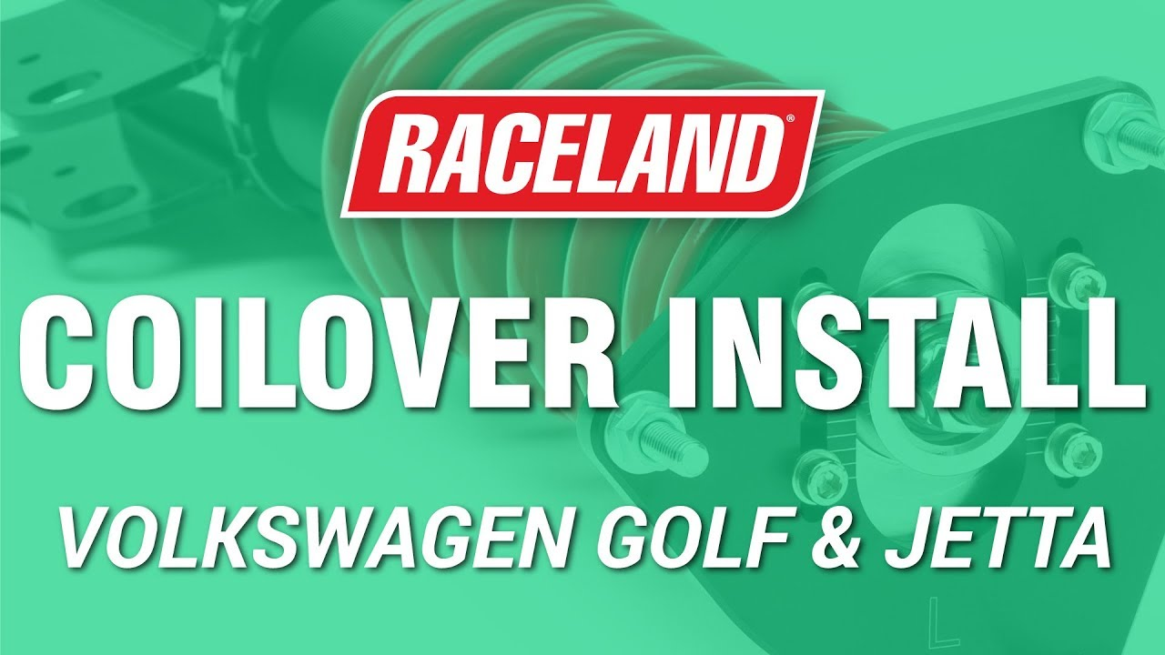 How To Install Raceland Vw Mk4 Coilovers Youtube