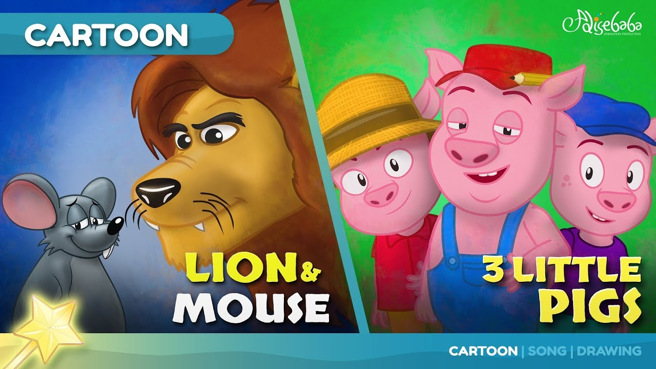 The Lion and the Mouse animation | Short stories for kids cartoon