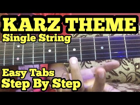 KARZ THEME Guitar Tabs/Lead Lesson | SINGLE STRING | Ek hasina thi | For Beginners
