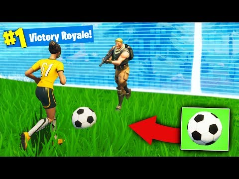 We Won With a *SOCCER BALL* in Fortnite Battle Royale