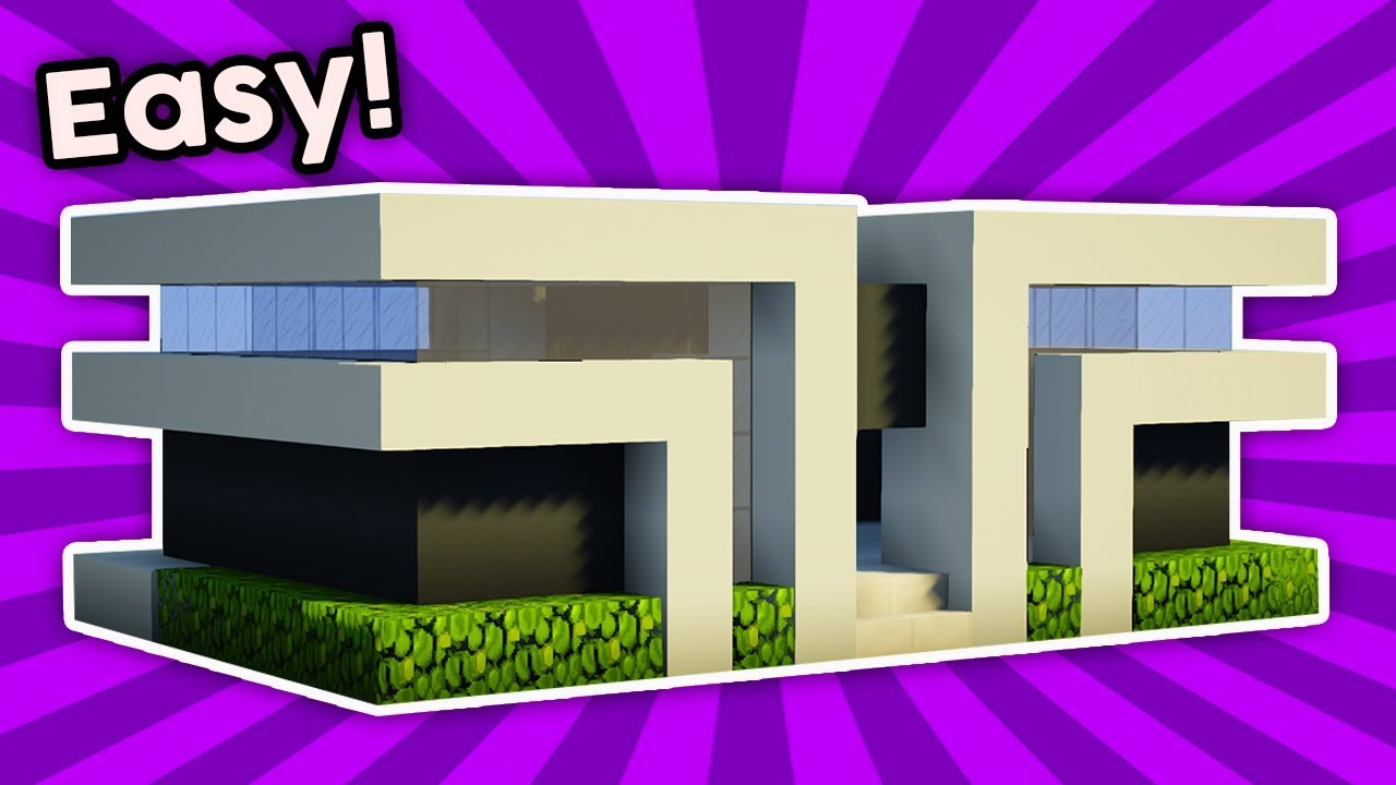 Minecraft How To Build A Easy Small Modern House Tutorial 5 Pc Xboxone Ps4 Pe Xbox360 Ps3 Youtube