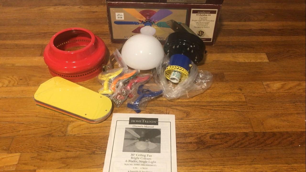 Rainbow Hugger Ceiling Fan Taraba Home Review