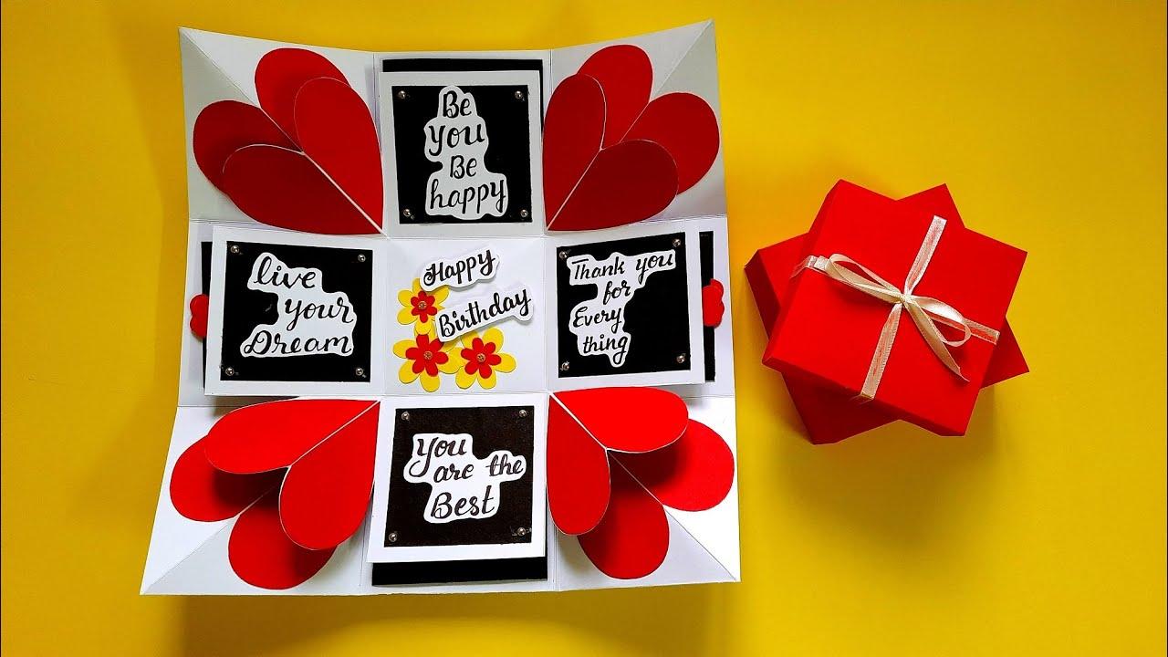DIY Gift Box for Birthday   Explosion Box Idea for Birthday   Tutorial